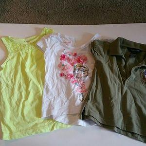 Lot of 3 girl toddler shirts